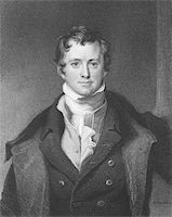 Humphrey Davy (1810-1876) on engraving from the 1800s. British chemist and inventor. Engraved by E. Scriven and published in London by Charles Knight, Pall Mall East. Stock Photo - Royalty-Free, Artist: Georgios, Code: 400-04370214