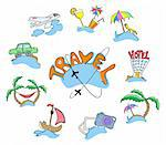 Collection of icons travel, vector illustration Stock Photo - Royalty-Free, Artist: pressmaster                   , Code: 400-04370866