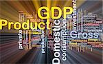 Background concept wordcloud illustration of GDP glowing light Stock Photo - Royalty-Free, Artist: kgtoh                         , Code: 400-04371395