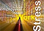 Background concept wordcloud illustration of work stress glowing light Stock Photo - Royalty-Free, Artist: kgtoh                         , Code: 400-04371413