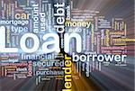Background concept wordcloud illustration of loan glowing light Stock Photo - Royalty-Free, Artist: kgtoh, Code: 400-04371424