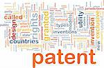 Background concept wordcloud illustration of patent Stock Photo - Royalty-Free, Artist: kgtoh                         , Code: 400-04371450