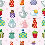 cartoon bottle seamless pattern Stock Photo - Royalty-Free, Artist: notkoo2008                    , Code: 400-04371738