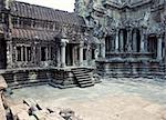 photo Angkor Wat - ancient Khmer temple in Cambodia. UNESCO world heritage site