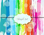 Grunge colorful Background with Label. Vector illustration Stock Photo - Royalty-Free, Artist: emaria                        , Code: 400-04372209