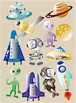 cartoon space icon Stock Photo - Royalty-Free, Artist: notkoo2008                    , Code: 400-04373210