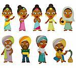Vector of cartoon Indian icon set Stock Photo - Royalty-Free, Artist: notkoo2008                    , Code: 400-04374270