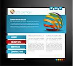 Modern web page template - with 3d navigation items Stock Photo - Royalty-Free, Artist: orsonsurf                     , Code: 400-04374759
