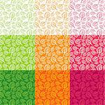 Seamless pattern from leaves of different colors