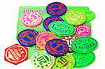 bunte Kirmes Spielchips Stock Photo - Royalty-Free, Artist: endhals                       , Code: 400-04378251