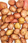 Potatoes is spilt by background on white