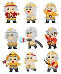 cartoon Fireman icon set Stock Photo - Royalty-Free, Artist: notkoo2008                    , Code: 400-04379993
