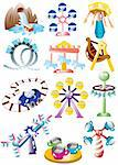 cartoon playground icon set Stock Photo - Royalty-Free, Artist: notkoo2008                    , Code: 400-04380851