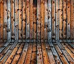 vintage old grunge wooden plank interior Stock Photo - Royalty-Free, Artist: mrVitkin                      , Code: 400-04381407
