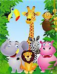 Animal cartoon Stock Photo - Royalty-Free, Artist: dagadu                        , Code: 400-04382900