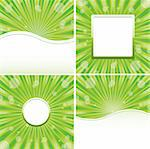 Set of green abstract backgrounds, vector illustration Stock Photo - Royalty-Free, Artist: MarketOlya                    , Code: 400-04383022