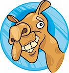 cartoon illustration of dromedary camel Stock Photo - Royalty-Free, Artist: izakowski                     , Code: 400-04383469