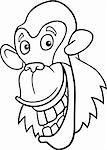 cartoon illustration of funny chimpanzee ape for coloring book Stock Photo - Royalty-Free, Artist: izakowski                     , Code: 400-04383473