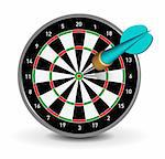 Vector Dartboard with Dart on white background Stock Photo - Royalty-Free, Artist: sermax55                      , Code: 400-04384383