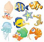 cartoon fish collection ,icon set Stock Photo - Royalty-Free, Artist: notkoo2008                    , Code: 400-04385014
