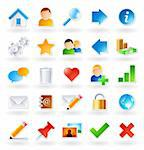 Set of 25 colored icons for websites and online communities Stock Photo - Royalty-Free, Artist: ThomasAmby                    , Code: 400-04385565