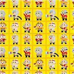 cartoon Fireman seamless pattern Stock Photo - Royalty-Free, Artist: notkoo2008                    , Code: 400-04385643
