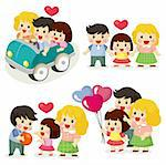 cartoon family icon set Stock Photo - Royalty-Free, Artist: notkoo2008                    , Code: 400-04386247