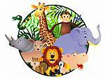 Wild animal cartoon Stock Photo - Royalty-Free, Artist: dagadu                        , Code: 400-04386989