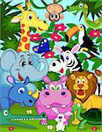 Wild animal cartoon Stock Photo - Royalty-Free, Artist: dagadu                        , Code: 400-04387009