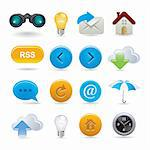set of web icons Stock Photo - Royalty-Free, Artist: Ika747                        , Code: 400-04387634