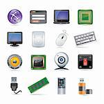 technology icon set Stock Photo - Royalty-Free, Artist: Ika747                        , Code: 400-04387635