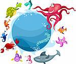 vector illustration of a sea life Stock Photo - Royalty-Free, Artist: nem4a                         , Code: 400-04387748