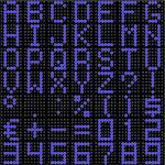 3D dot-matrix font with reflection. Image generated in 3D application. Stock Photo - Royalty-Free, Artist: Aleksan                       , Code: 400-04387760