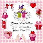 cartoon love card Stock Photo - Royalty-Free, Artist: notkoo2008, Code: 400-04387786