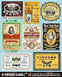 Vintage Labels Collection - 8 design elements with original antique style -Set 18 Stock Photo - Royalty-Free, Artist: DavidArts                     , Code: 400-04388852