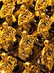 close up of an array of golden statues Stock Photo - Royalty-Free, Artist: zkruger                       , Code: 400-04389261