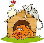 Illustration of Happy farm animals Stock Photo - Royalty-Free, Artist: izakowski                     , Code: 400-04389520