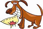 Cartoon illustration of naughty dog Stock Photo - Royalty-Free, Artist: izakowski                     , Code: 400-04389536