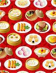 seamless chinese food pattern Stock Photo - Royalty-Free, Artist: notkoo2008                    , Code: 400-04389802