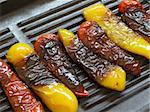 close up of grilled peppers on a grill Stock Photo - Royalty-Free, Artist: zkruger                       , Code: 400-04389971