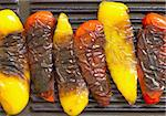 close up of grilled bell peppers Stock Photo - Royalty-Free, Artist: zkruger                       , Code: 400-04389972