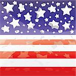 Background with elements of USA flag Stock Photo - Royalty-Free, Artist: MarketOlya                    , Code: 400-04390692