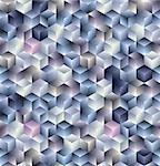 3d cubes geometric seamless pattern. Vector tiles background. Stock Photo - Royalty-Free, Artist: Sylverarts                    , Code: 400-04390785