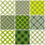 Set of crossed lines textile seamless patterns. Vector backgrounds collection. Stock Photo - Royalty-Free, Artist: Sylverarts                    , Code: 400-04390823