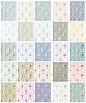 Set of rhombus seamless patterns. Vector repeat backgrounds collection of 25 color halftone versions. Stock Photo - Royalty-Free, Artist: Sylverarts                    , Code: 400-04390881