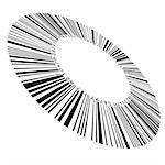 Abstract circular bar code. Illustration on white background for design Stock Photo - Royalty-Free, Artist: dvarg                         , Code: 400-04391447