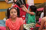 Shocked little African-American kid at a sleepover Stock Photo - Royalty-Free, Artist: creatista                     , Code: 400-04391525