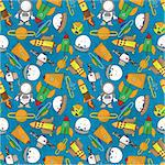 seamless cartoon space pattern Stock Photo - Royalty-Free, Artist: notkoo2008                    , Code: 400-04392394