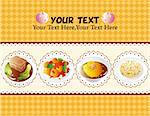 cartoon Chinese food card Stock Photo - Royalty-Free, Artist: notkoo2008                    , Code: 400-04392398