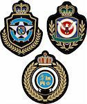 royal emblem badge shield Stock Photo - Royalty-Free, Artist: pauljune                      , Code: 400-04392400